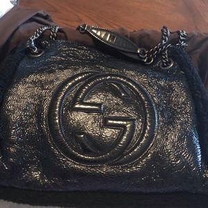Gucci Bags - GUCCI SOHO Crushed Patent Leather Shoulder Bag
